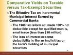 comparative yields on taxable versus tax exempt securities14