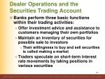 dealer operations and the securities trading account4