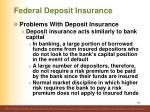 federal deposit insurance12