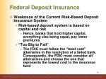 federal deposit insurance18