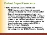 federal deposit insurance5