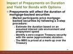 impact of prepayments on duration and yield for bonds with options1