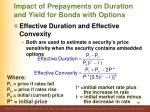 impact of prepayments on duration and yield for bonds with options4