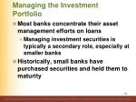 managing the investment portfolio1