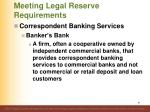 meeting legal reserve requirements9