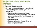 objectives of the investment portfolio10