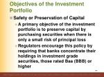 objectives of the investment portfolio4