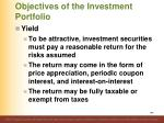 objectives of the investment portfolio7