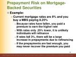 prepayment risk on mortgage backed securities1