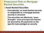 prepayment risk on mortgage backed securities14