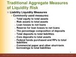 traditional aggregate measures of liquidity risk6