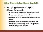 what constitutes bank capital3