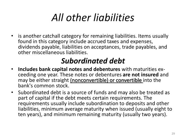 All other liabilities