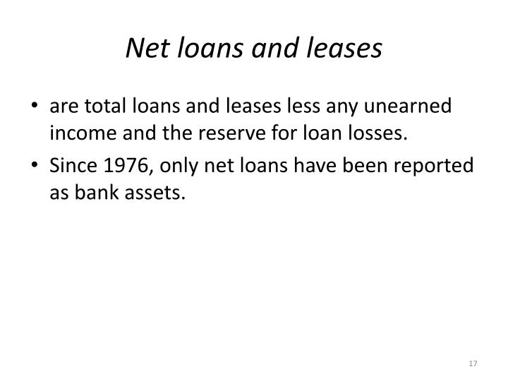 Net loans and leases