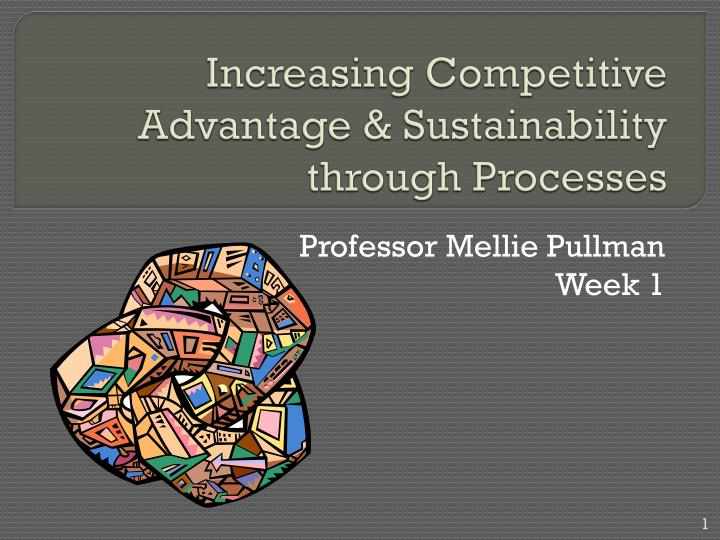 increasing competitive advantage sustainability through processes n.