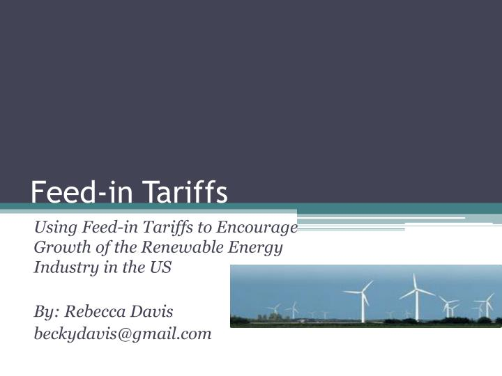 feed in tariffs n.
