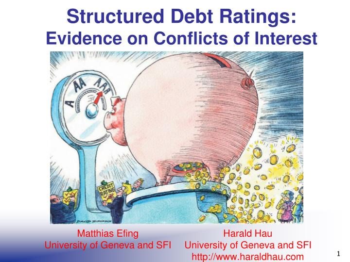 structured debt ratings evidence on conflicts of interest n.