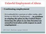 unlawful employment of aliens1