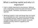 what is working capital and why is it important