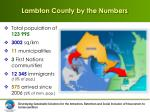 lambton county by the numbers