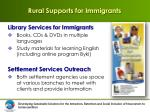 rural supports for immigrants