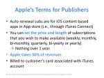 apple s terms for publishers