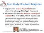 case study roadway magazine
