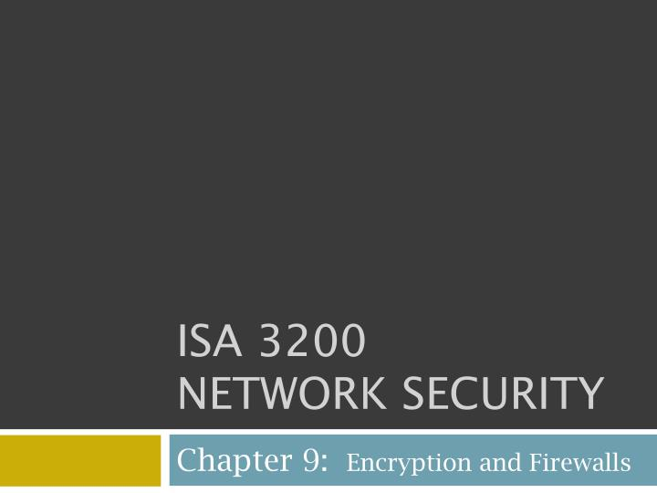 isa 3200 network security n.