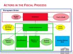 actors in the fiscal process