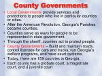 county governments
