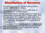 distribution of revenue