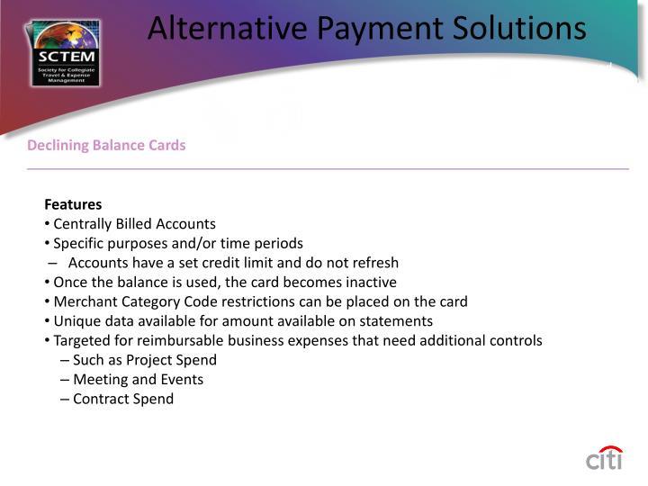 Declining Balance Cards