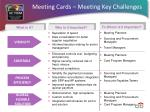 meeting cards meeting key challenges