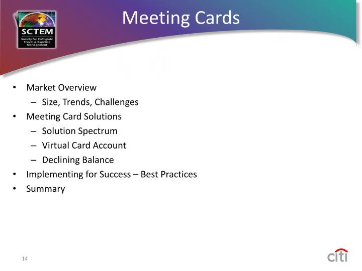 Meeting Cards