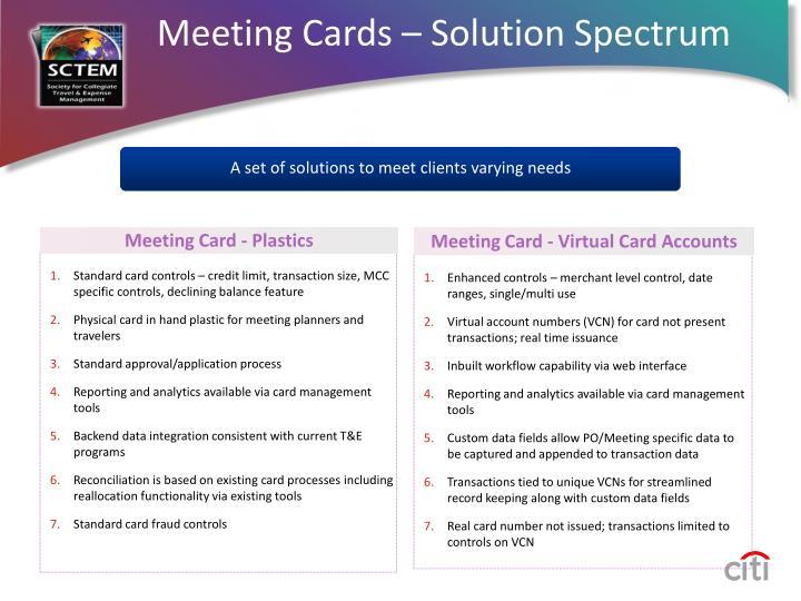 Meeting Cards – Solution Spectrum