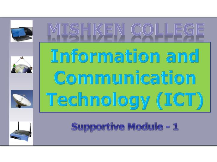 information and communication technology ict n.