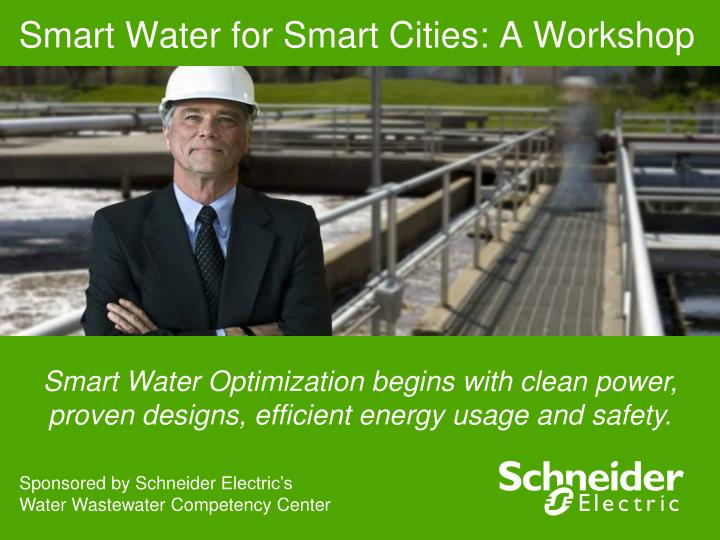 smart water for smart cities a workshop n.