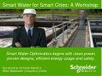 smart water for smart cities a workshop