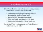 requirements of sca