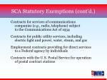 sca statutory exemptions cont d