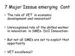 7 major isssue emerging cont