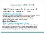 assessment of the ccss