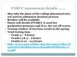 parcc assessment details continued