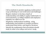 the math standards