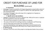 credit for purchase of land for building continued