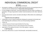 individual commercial credit coi continued1
