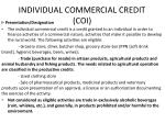 individual commercial credit coi