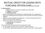 mutual credit for leasing with purchase option lvm continued