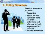 4 policy direction