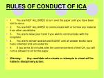 rules of conduct of ica